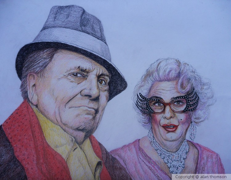 Barry Humphries,a.k.a. Dame Edna Everage