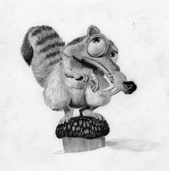 how to draw scrat ice age