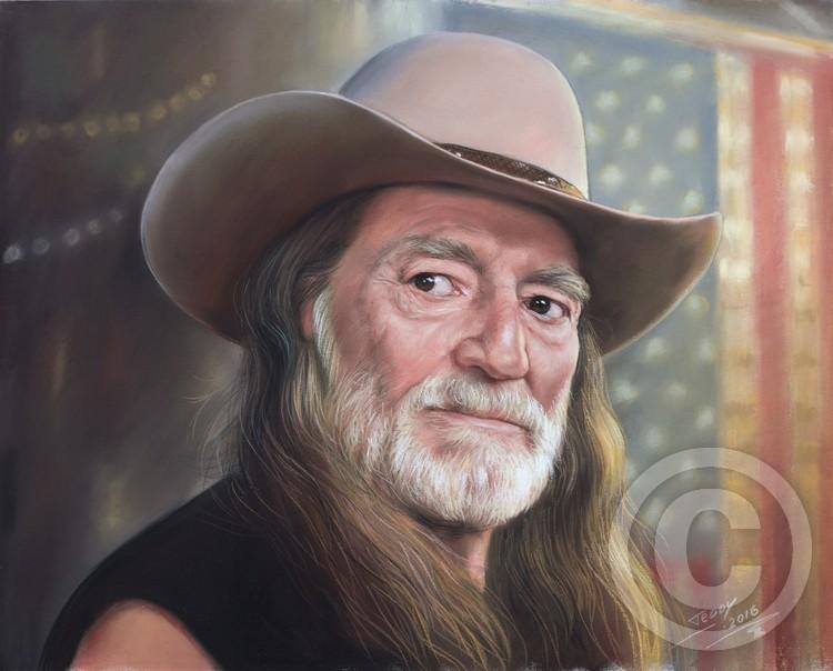 Portrait of Willie Nelson