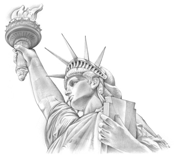 Search results for statue of liberty drawing calendar 2015 for Statue of liberty drawing template