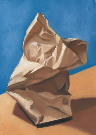 how to draw a wrinkled paper bag