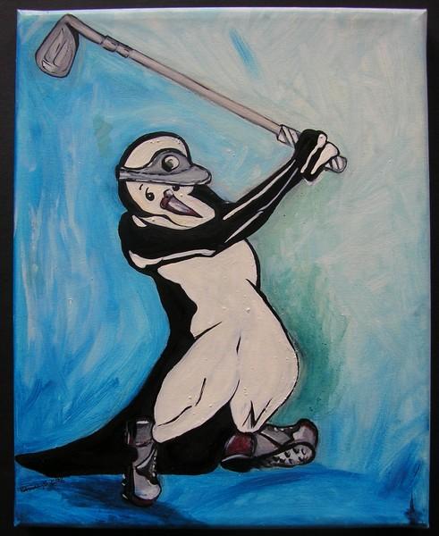 Golfing  Penguin