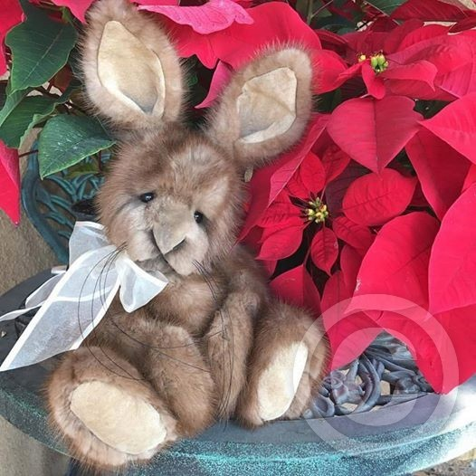 Recycled Mink Fur Bunny Rabbit
