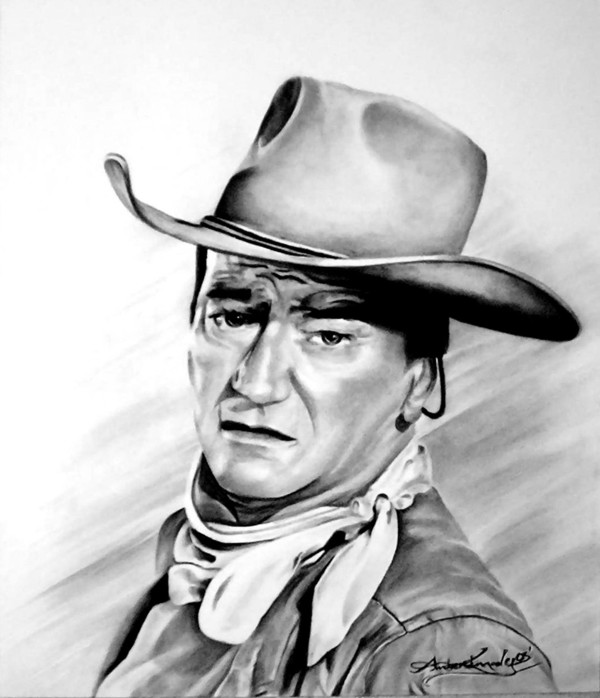 John Wayne by Amber Kennady | ArtWanted.com