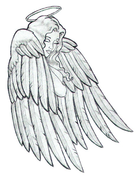 depressed angel drawings - photo #25