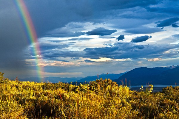 Late Rainbow Afternoon
