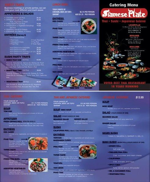 Catering Menu Siamese Plate