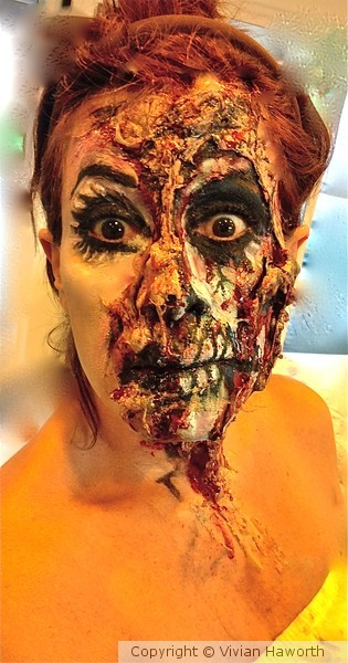 SPECIAL FX-WOMAN GHOUL FACE MAKEUP