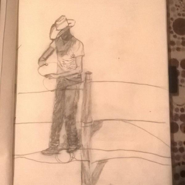 sketch: cowboy