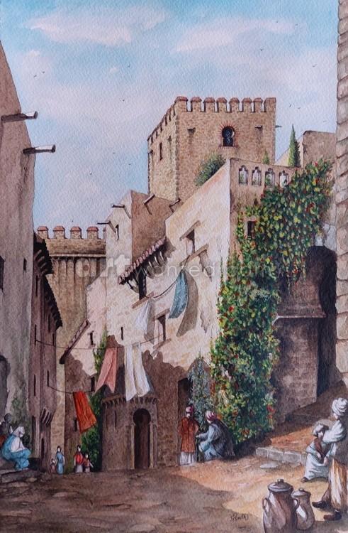 Callejuela de los Moros and Torre del Mirador c16th century