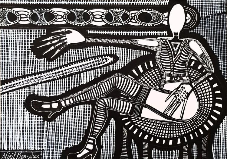 Israel artist woman jewish painter autentic paintings Mirit Ben-Nun