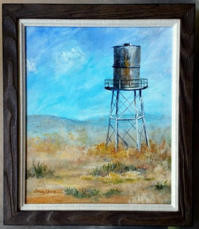 old water tower in the desert