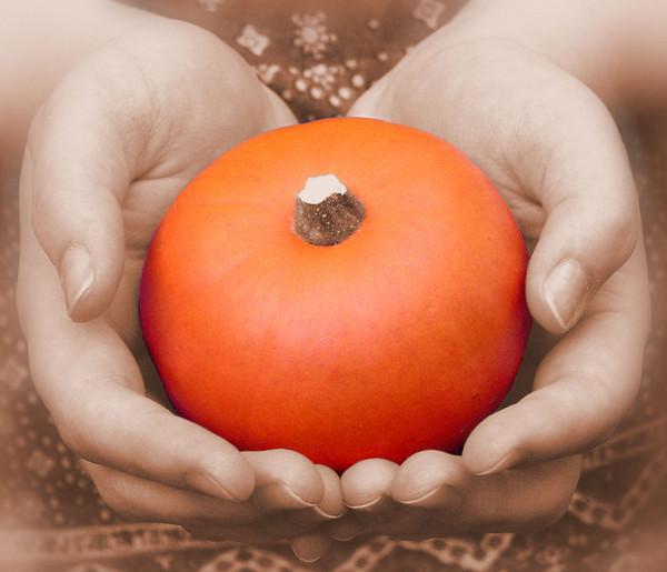 Cradled Pumpkin