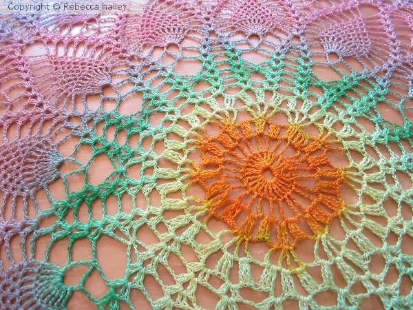Hand Dyed Doily