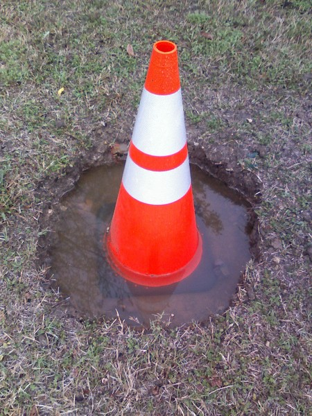 Cone in Mud Hole