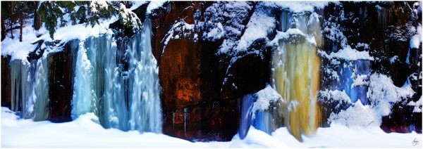 Flowing Colors in a Winter Landscape