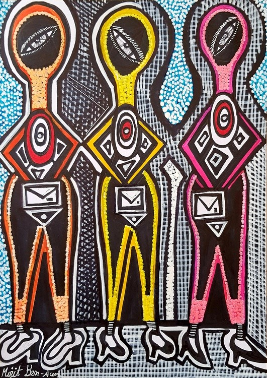 Artist Israel autentic artist paintings and drawings Mirit Ben-Nun