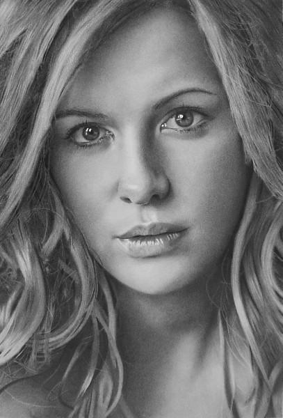 Kate Beckinsale Pencil Drawing