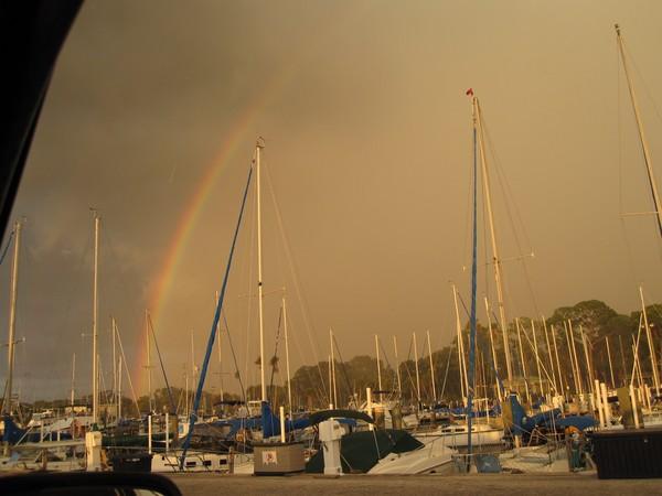 Rainbow Over Dunedin Marina