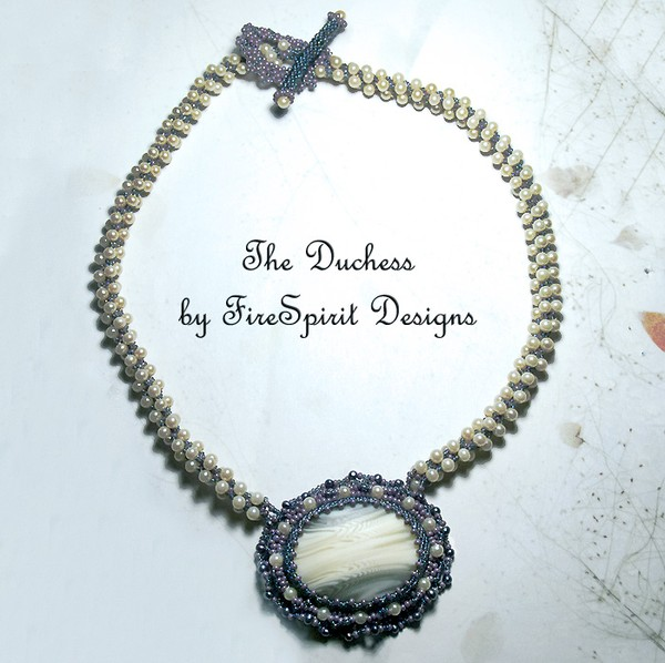 The Duchess-  bead embroidery- necklace