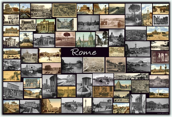 ROME  ROMA Old Photos & Postcards (Collage)