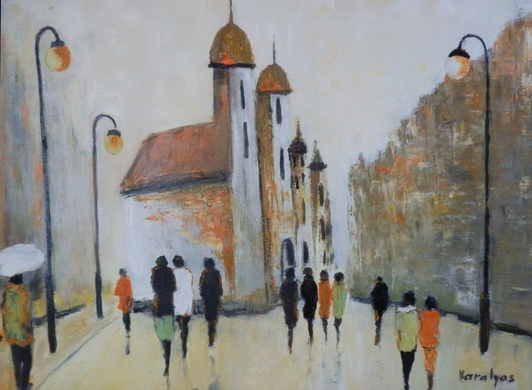 The square in front of the church - sold