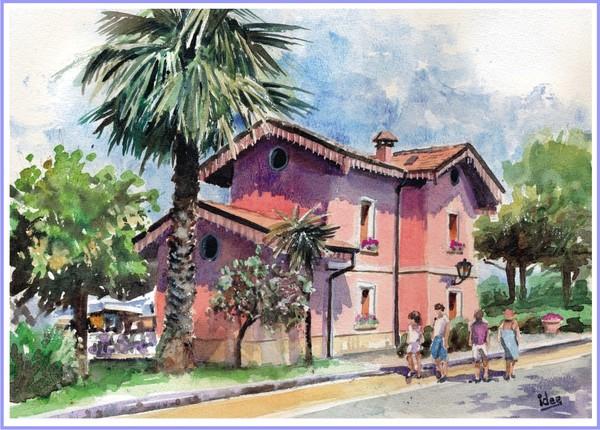 The old railway-station of Bardolino