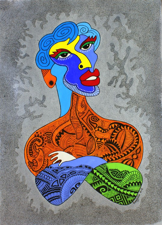 Picasso tattoo acrylic