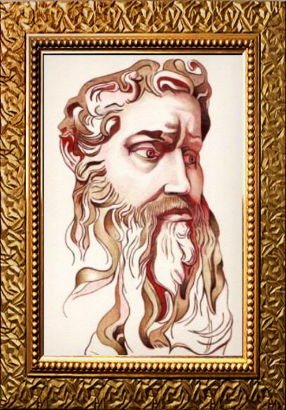 Gold Ink Portrait