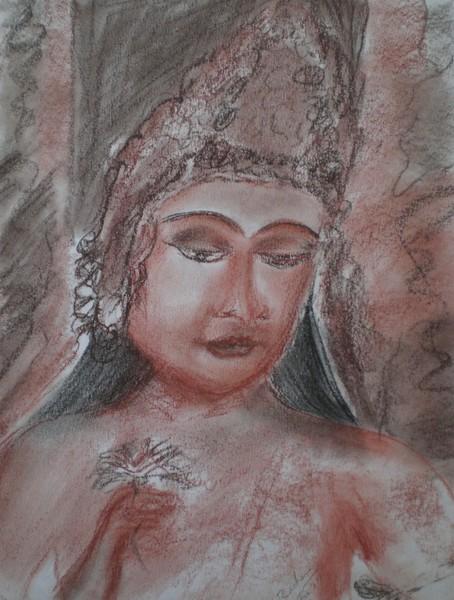 Ajanta Cave Painting - Padma pani