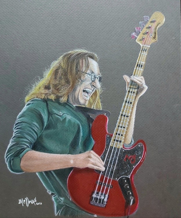 Geddy Lee from Rush