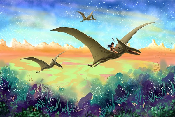 Pterodactyls Hunting