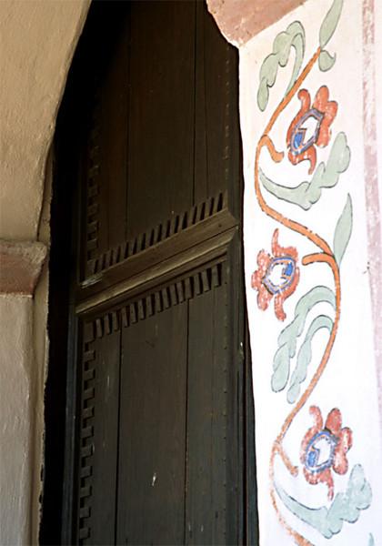 Mission San Antonio Painted Doorway
