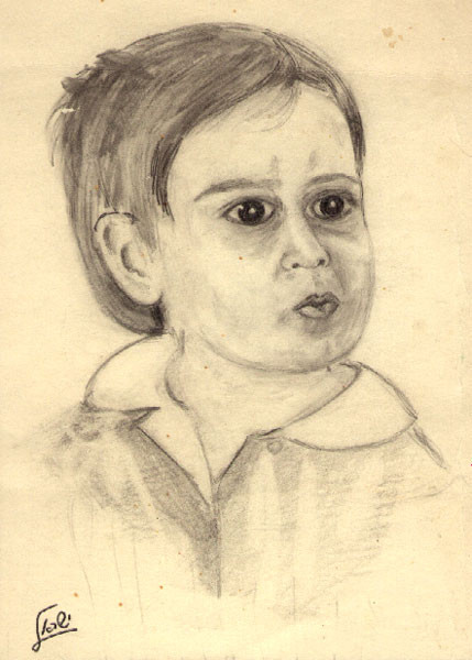 My portrait ,One year Old,By Israel
