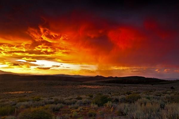Golden Storm Clouds
