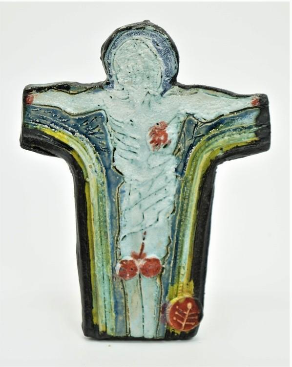 Jesus crucifix . Modern Ceramic. Gomolka Art