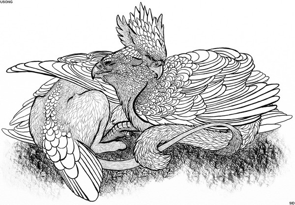 Gryphons Snuggling
