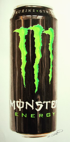 Monster Can Drawing