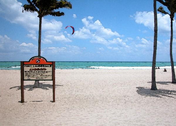 Ft Lauderdale Beach Watercolor