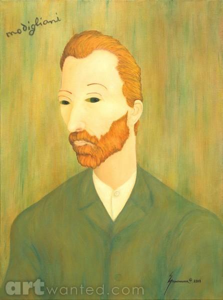 My Modigliani Portrait of Van Gogh