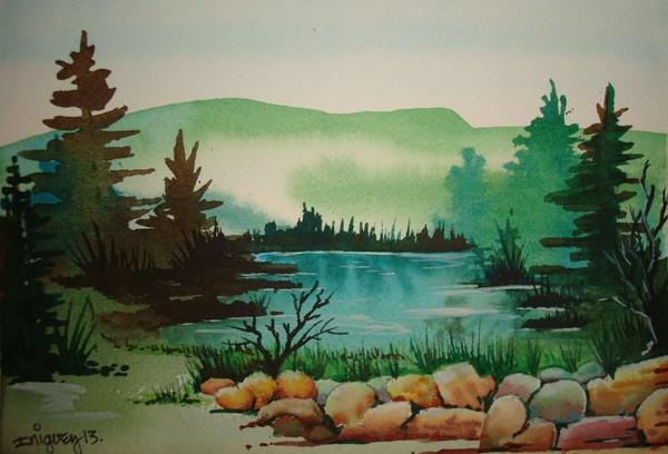 Foggy lake 1