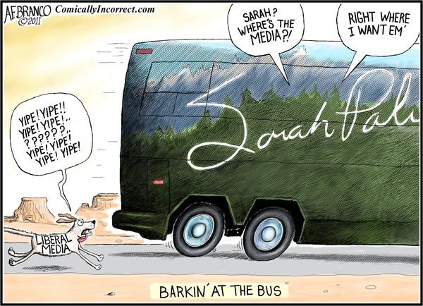 Barkin' at Sarah's Bus (Cartoon)