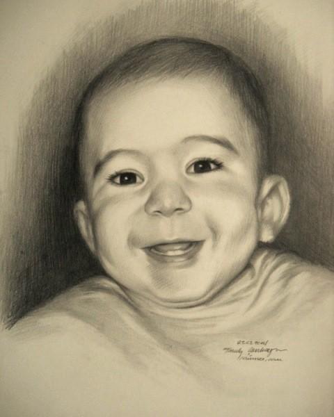 resimser karakalem bebek çizimi