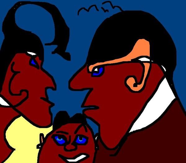 Blue-Eyed Family