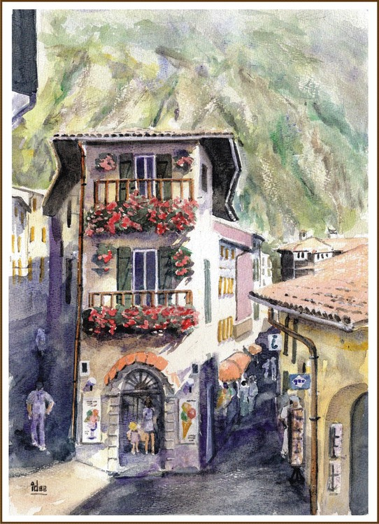 Narrow alleys in Limone