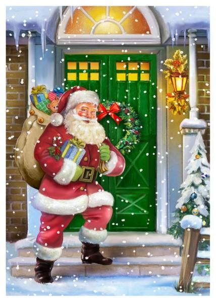 Santa at frontdoor