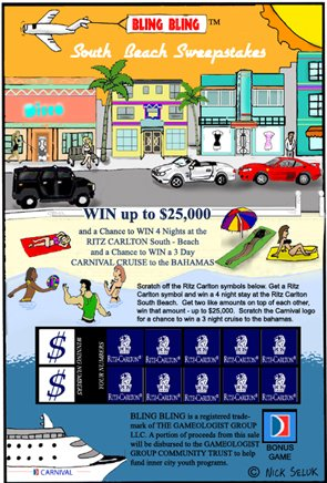 South Beach Lottery Ticket Prototype