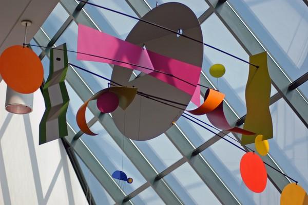 Multi Colored Hanging Sculpture