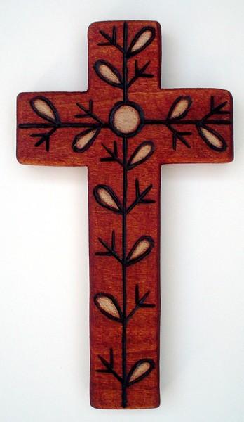 twig leaf cross