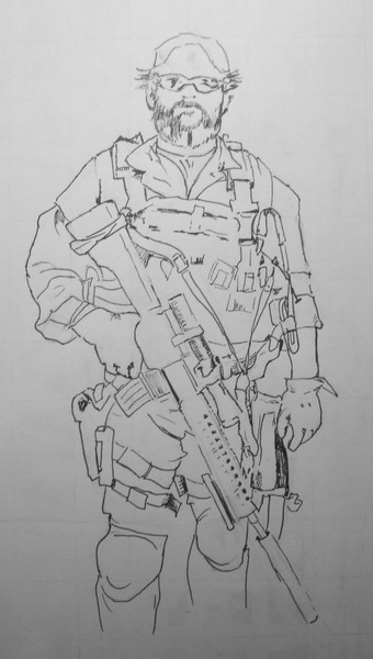 Legacy Sketches:  Special Forces Soldier